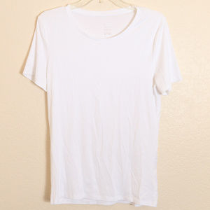 A New Day Shirt Sz L Target White Scoop Neck Cap